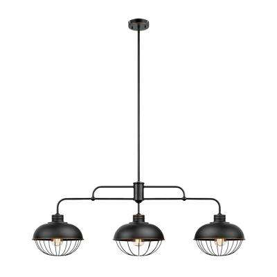 Elior 3-Light Oil Rubbed Bronze Caged Pendant