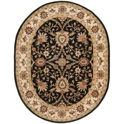 Antiquity Black 7 ft. 6 in. x 9 ft. 6 in. Oval Area Rug