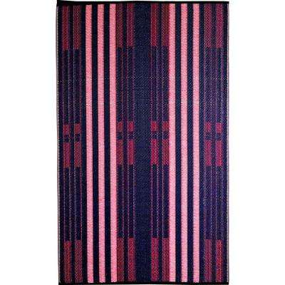 Brick Lane Blue/Red 6 ft. x 9 ft. Outdoor Reversible Area Rug