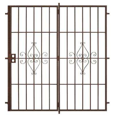 72 in. x 80 in. Su Casa Copper Projection Mount Outswing Steel Patio Security Door with No Screen