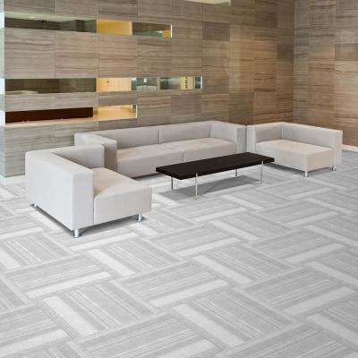 Peel and Stick First Impressions Barcode Black Ice 24 in. x 24 in. Commercial Carpet Tile (15 Tiles/Case)