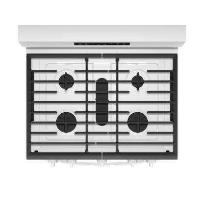 5.8 cu. ft. Gas Freestanding Range in White