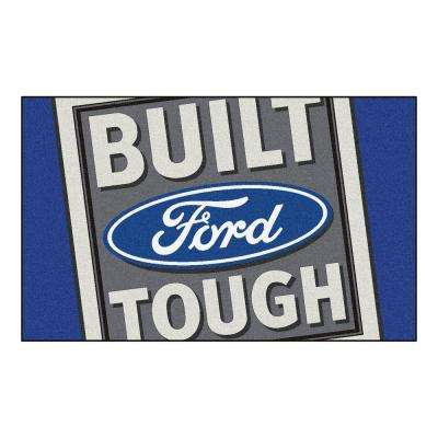 Ford - Built Ford Tough Blue 6 ft. x 4 ft. Indoor Rectangle Area Rug