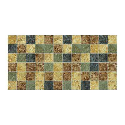 Heathland Sunset 12 in. x 24 in. x 8 mm Glazed Ceramic Mosaic Floor and Wall Tile