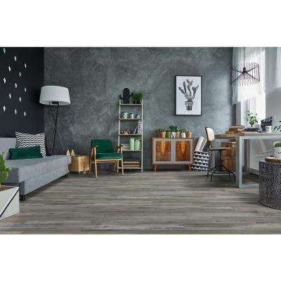 Woodlett Outerbanks Grey 6 in. x 48 in. Glue Down Luxury Vinyl Plank Flooring (36 sq. ft./case)