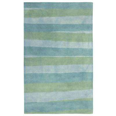 Portico Color Bars Sea Breeze 3 ft. 6 in. x 5 ft. 6 in. Area Rug