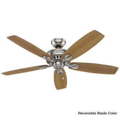 Highbury II 52 in. LED Indoor Brushed Nickel Ceiling Fan with Light Kit