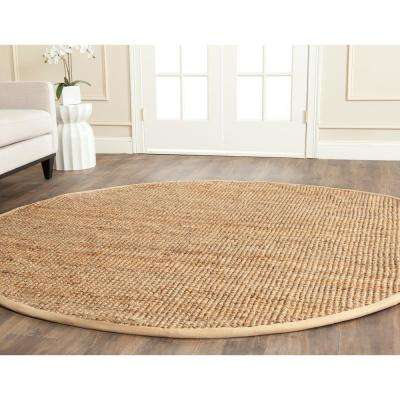 Natural Fiber Beige 7 ft. x 7 ft. Round Area Rug