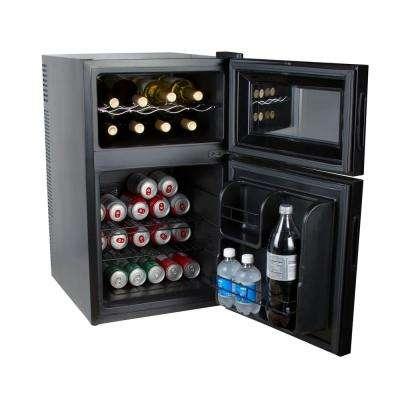 8-Bottle 2-in-1 Mini Fridge and Wine Cooler