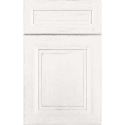 14 in. x 12 in. Charlotte Cabinet Door Sample in Maple Cottage White