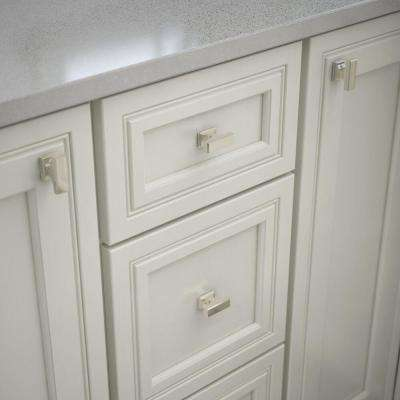 Elegant 1-9/16in. (40mm) Polished Nickel Rectangular Cabinet Knob
