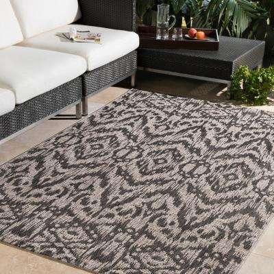 Cranleigh Charcoal 2 ft. x 3 ft. Indoor/Outdoor Area Rug
