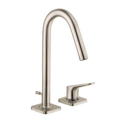 Citterio M 4 in. Minispread 1-Handle High-Arc Bathroom Faucet in Brushed Nickel