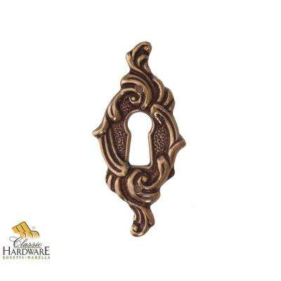 Antique Brass Distressed Vertical Escutcheon