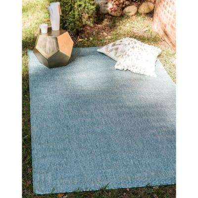 Outdoor Solid Aquamarine 8' 0 x 11' 4 Area Rug