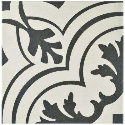 Twenties Vintage 7-3/4 in. x 7-3/4 in. Ceramic Floor and Wall Tile