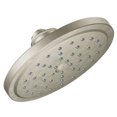 Fina 1-Spray 7 in. Rainshower Showerhead Featuring Immersion in Brushed Nickel