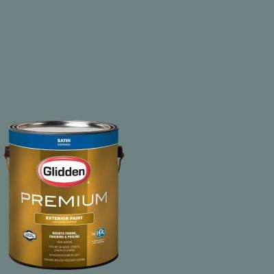 1-gal. #HDGCN21 Blue Forest Satin Latex Exterior Paint