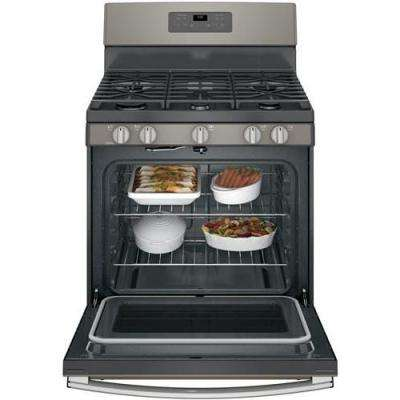 5.0 cu. ft. Gas Range with Self-Cleaning Oven in Slate, Fingerprint Resistant