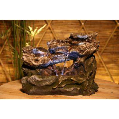 3-Tier Rainforest Tabletop Fountain with LED Lights