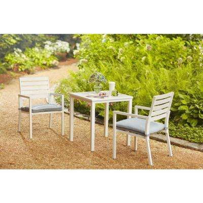 Blue Springs 3-Piece Patio Bistro Set with Blue Cushions