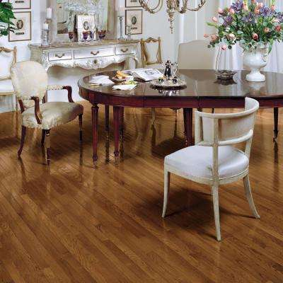 Bayport Oak Low Gloss Gunstock 3/4 in. Thick x 2-1/4 in. Wide x Varying Length Solid Hardwood Flooring (20 sq. ft./case)