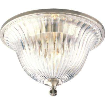Roxbury Collection 2-Light Classic Silver Flushmount