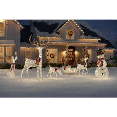 Polar Wishes 33 in. Christmas Warm White LED White PVC Doe