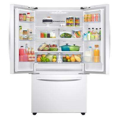 28.2 cu. ft. French Door Refrigerator in White
