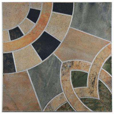 Cartago Azul 17-3/4 in. x 17-3/4 in. Ceramic Wall and Floor Tile (10.76 sq. ft. / case)