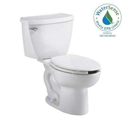 Cadet Pressure-Assisted 2-piece 1.1 GPF Single Flush Elongated Toilet in White