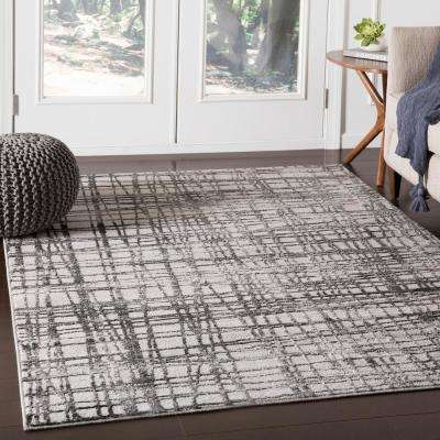 Everest Charcoal 2 ft. 7 in. x 7 ft. 3 in. Abstract Runner Rug