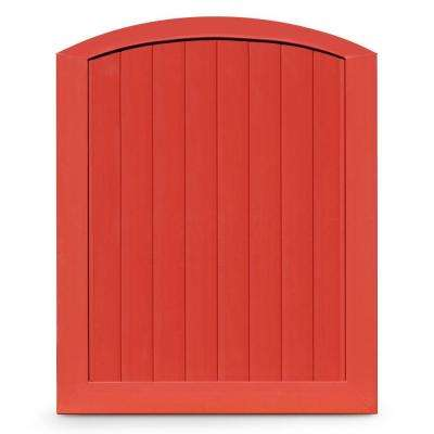 Pro Series 5 ft. W x 6 ft. H Barn Red Vinyl Anaheim Privacy Arched Top Fence Gate