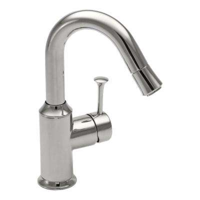 Pekoe Single-Handle Bar Faucet in Polished Chrome