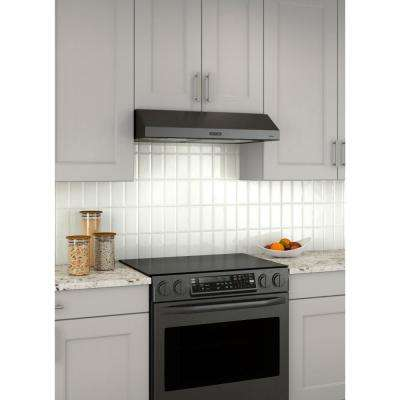 Convertible Under Cabinet Range Hood With Light In Black Stainless