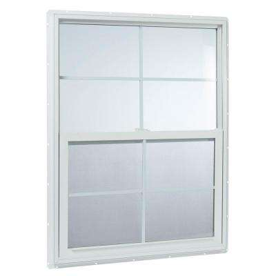 35.25 in. x 47.25 in. 25000 Series Single Hung Vinyl Window Insulated with Grids