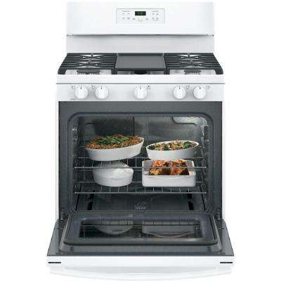 30 in. 5.0 cu. ft. Free-Standing Gas Range in White