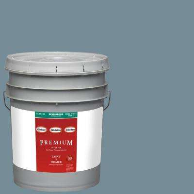 5-gal. #HDGB52U Stormy Sky Blue Semi-Gloss Latex Interior Paint with Primer
