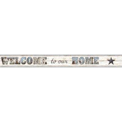 6 in. H Country Keepsakes Welcome to Our Home Border
