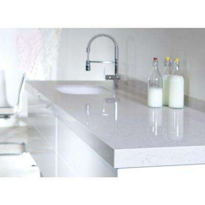 2 in. x 4 in. Quartz Countertop Sample in Lagoon