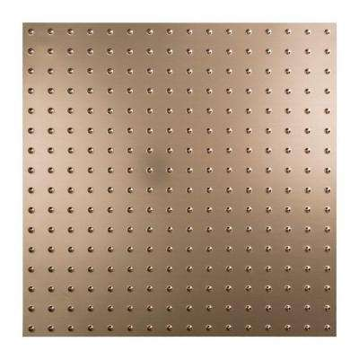 Minidome - 2 ft. x 2 ft. Lay-in Ceiling Tile in Brushed Nickel
