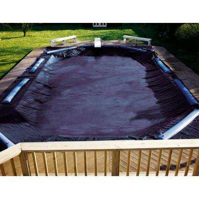 Deluxe Regtangular Blue In Ground Winter Pool Cover