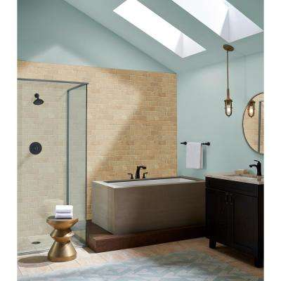 Durango 12 in. x 12 in. x 8mm Tumbled Travertine Mesh-Mounted Mosaic Tile (10 sq. ft./case)