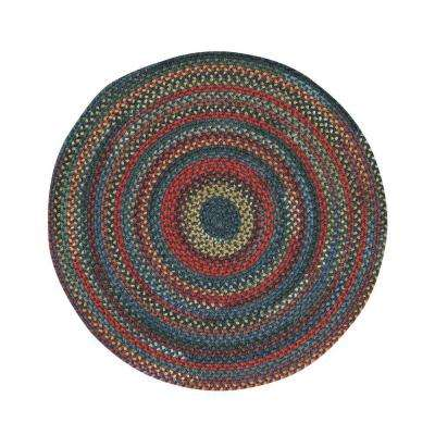 Star Gold Blue Jay 7 ft. 6 in. Round Area Rug