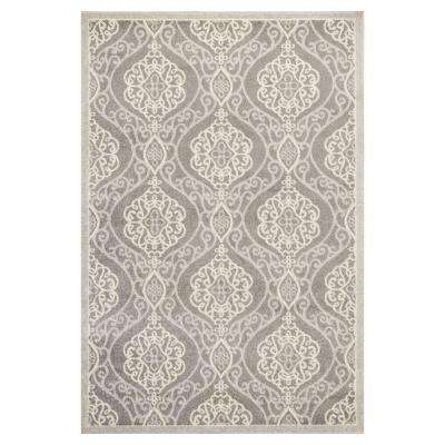 Riviera Silver 5 ft. 3 in. x 7 ft. 7 in. All-Weather Area Rug