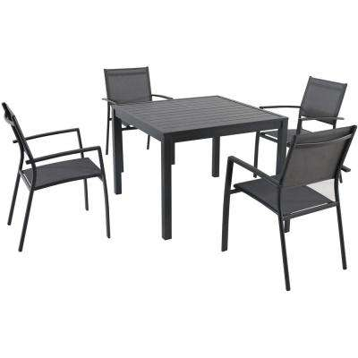 Naples 5-Piece Aluminum Square Outdoor Dining Set