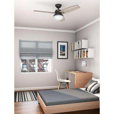 Camino 48 in. Indoor Weathered Zinc Oak Ceiling Fan with Light and Universal Remote