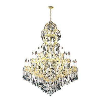 Maria Theresa Collection 48-Light Gold and Crystal Chandelier