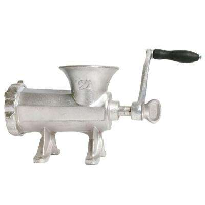 Number 22 Cast Iron Food Grinder in Silver