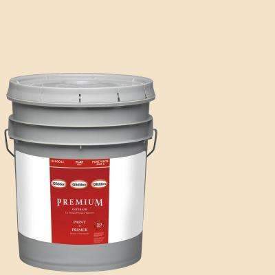 5-gal. #HDGY09 Gold Coast White Flat Latex Interior Paint with Primer